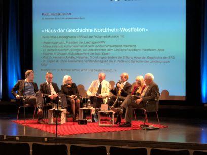 v.l.n.r. Dr. Hagen W. Lippe-Weißenfeld, Muchtar Al Ghusain, Milena Karabaic, Moderator Dr. Michael Köhler, André Kuper, Barbara Rüschoff-Parzinger, Prof. Dr. Hermann Schäfer